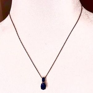NWOT Sapphire, Diamond and gold necklace